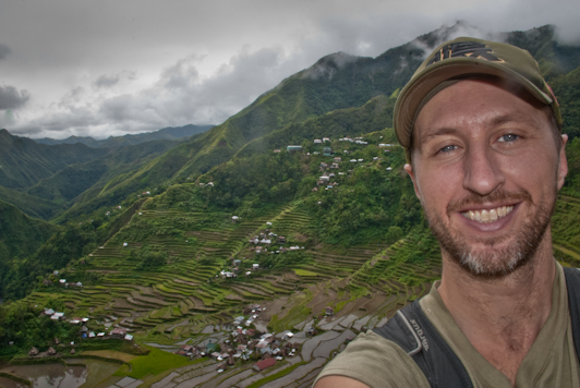 me in front of the Batad Rice Terraces