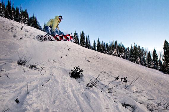 Matt Gibson snowboard jump