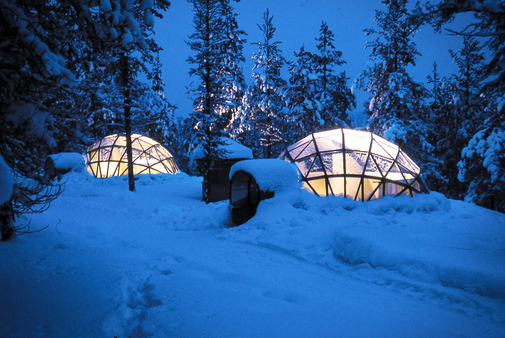 Stay in an Igloo Under the Aurora Borealis in in Finnish ...