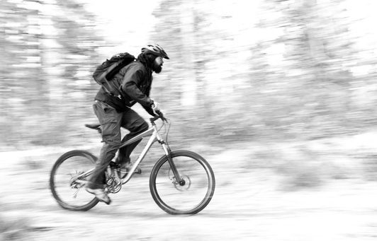 Andrew Badenoch on his fatbike