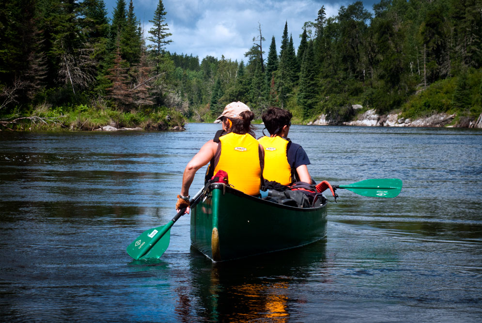 canoeing the Manigotagan river Manitoba (14)