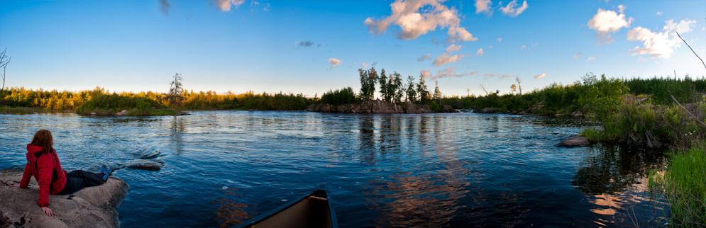 canoeing the Manigotagan River, Manitoba