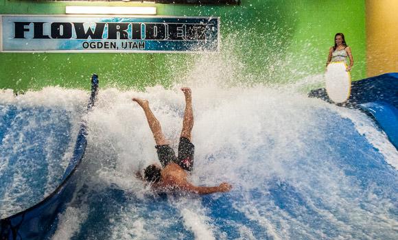 Indoor Surfing On The Flowrider