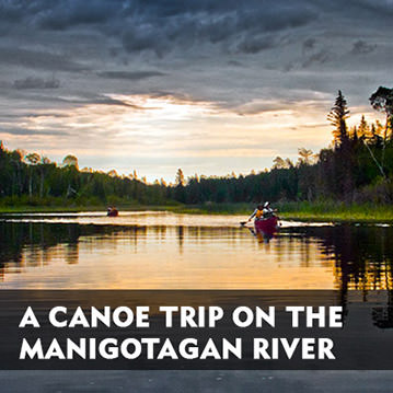 A canoe trip on the Manigotagan River