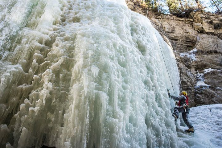 Maligne Canyon Ice Climber