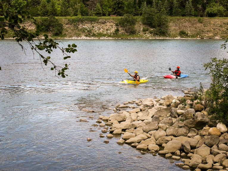 Kayaking on the Bow River