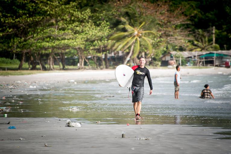 Matt surfing at Rayong