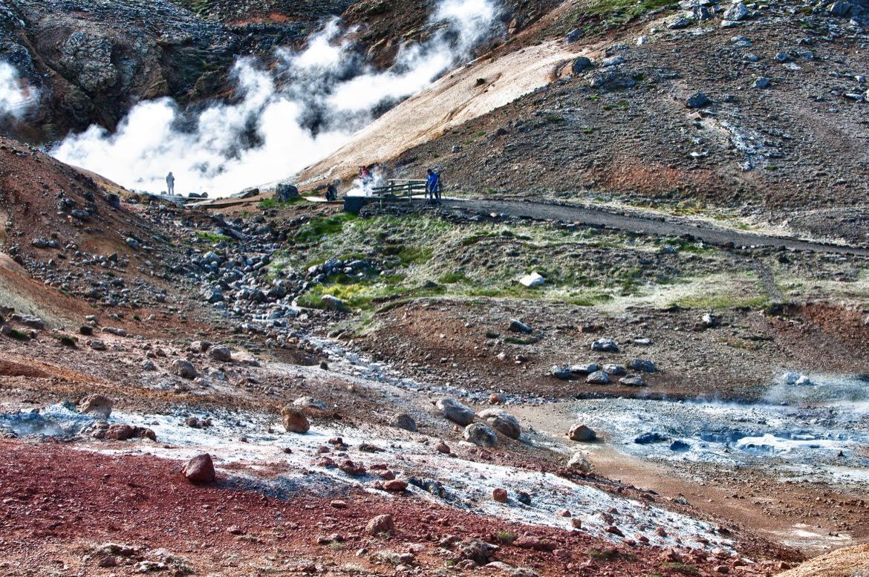 Seltún near Krysuvík (geothermal fields)