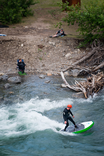 River Surfing Calgary Kananaskis Top View