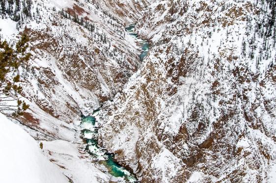 Yellowstone National Park winter Grand Canyon