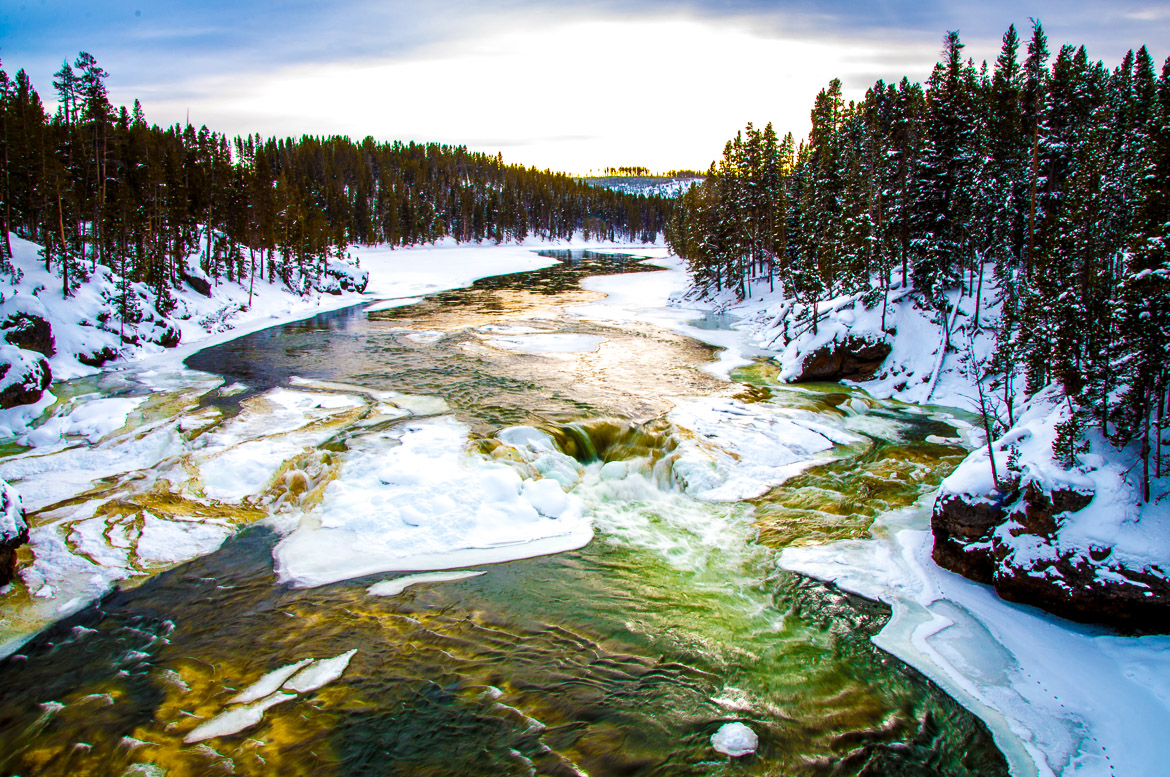 Yellowstone National Park winter river