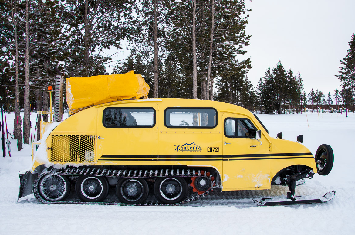 Yellowstone National Park winter snowcoach