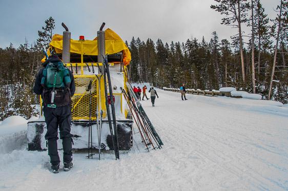 Yellowstone National Park winter snowcoach