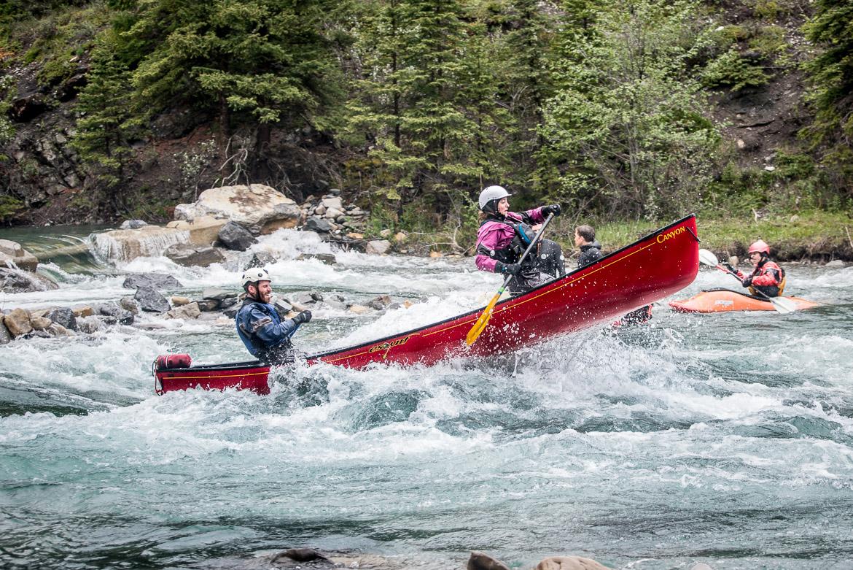 River Surfing Calgary Kananaskis canoe