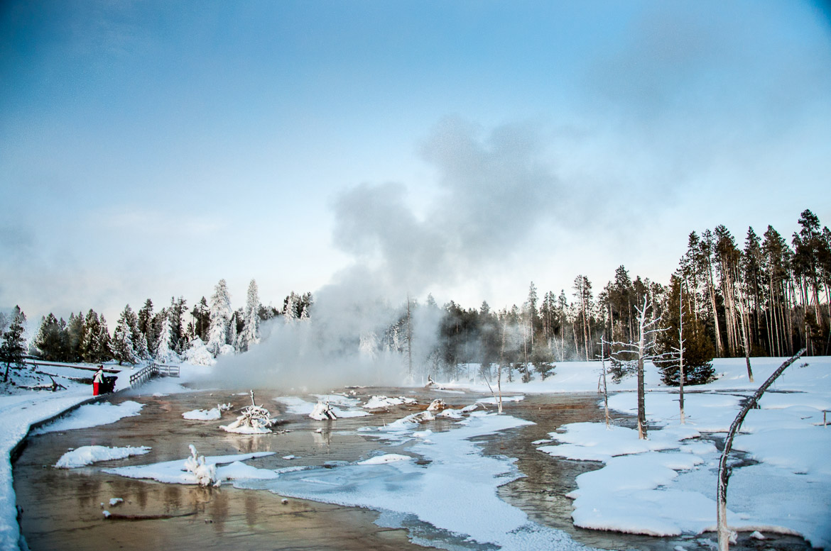 Yellowstone National Park winter springs