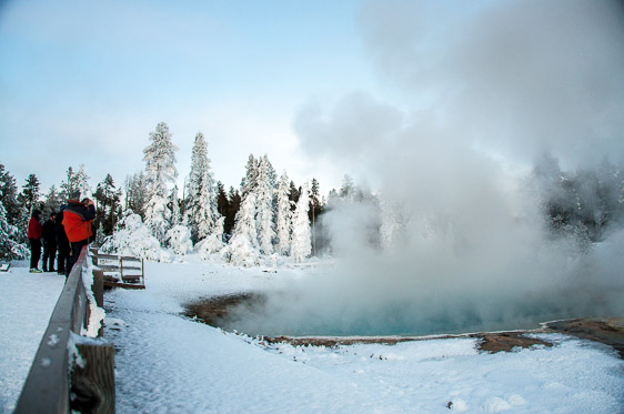 Yellowstone National Park winter walkway