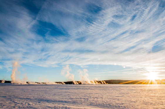 Yellowstone National Park winter landscape