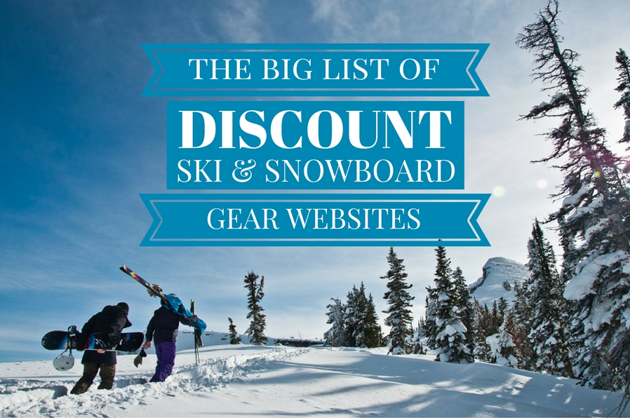 big list of discount ski gear and snowboard gear shops online 75447190a