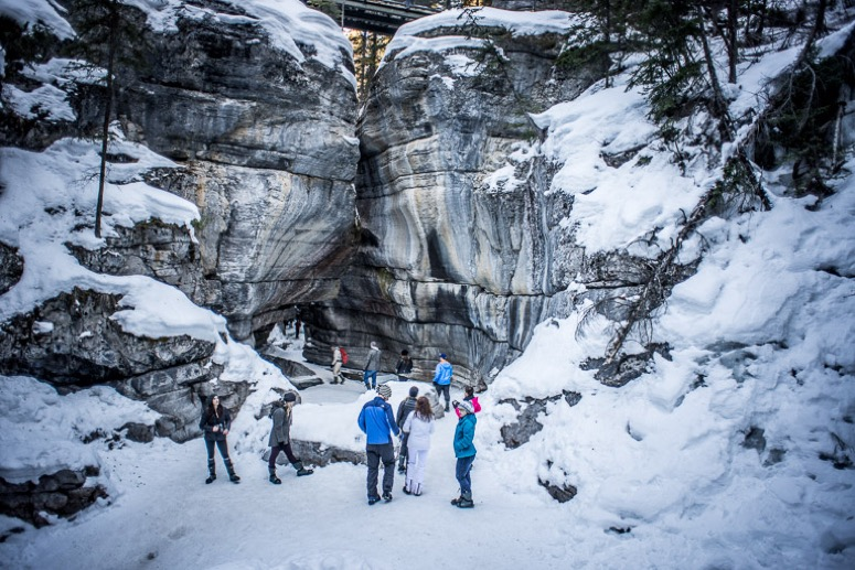 The Continental Divide In Maligne Canyon