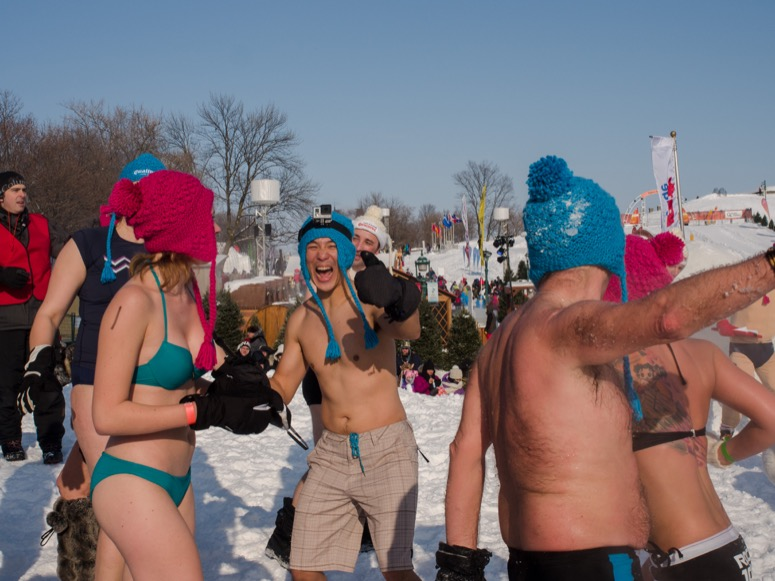 Quebec Winter Carnival Snow Bath